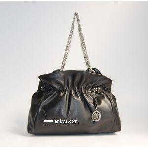 Christian Dior Black Calfskin Leather Shoulder Han...