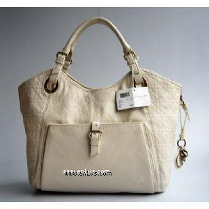 Dior 2935 beige leather handbag