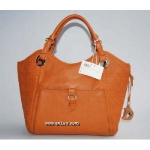 Dior 2935 camel leather handbag